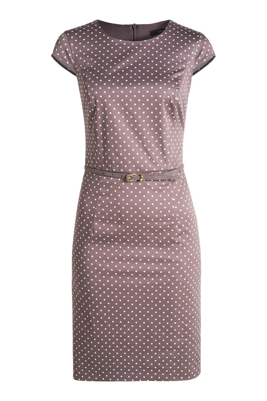 polka dots etuikleid mit gürtel | kleider, etuikleid