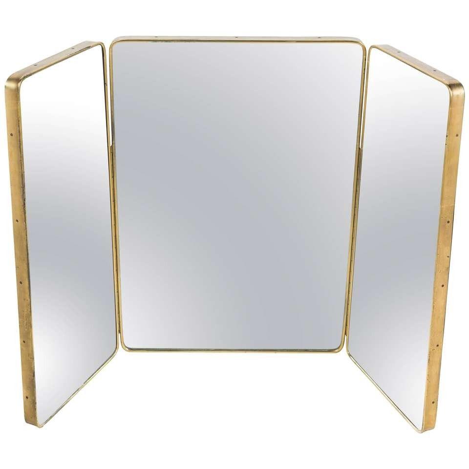 Dimensions 2 Ft 7 In H X 3 Ft 12 In W X 1 In D79 Cm H X 121 Cm W X 3 Cm D Trifold Mirror Mirror Mirror Table