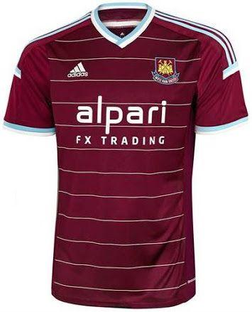 New West Ham United 14 15 Home Away And Third Kits Classic Football Shirts Sports Shirts New Football Shirts