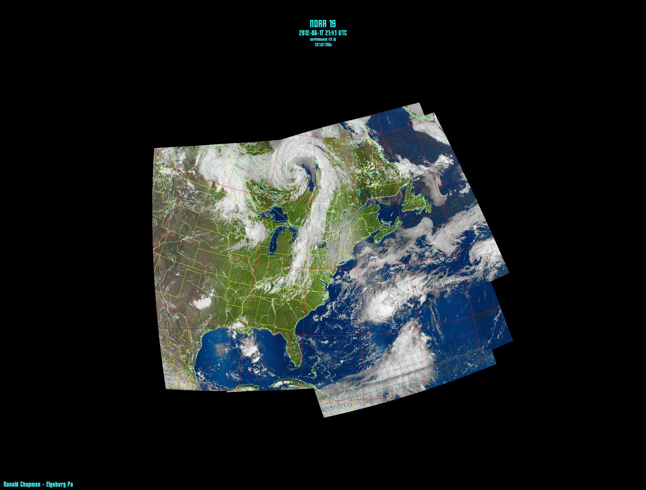 This Is A Composite NOAA Weather Satellite Image I - World satellite view real time