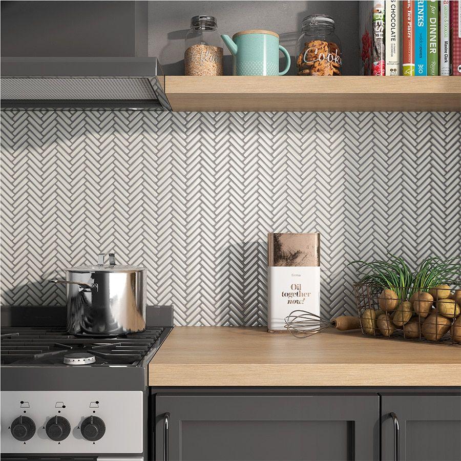 - Pastello Collection - 12 Herringbone Tiles Kitchen, Kitchen