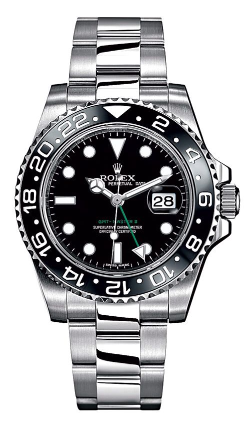 Steel Oyster Perpetual GMT-Master II watch by Rolex