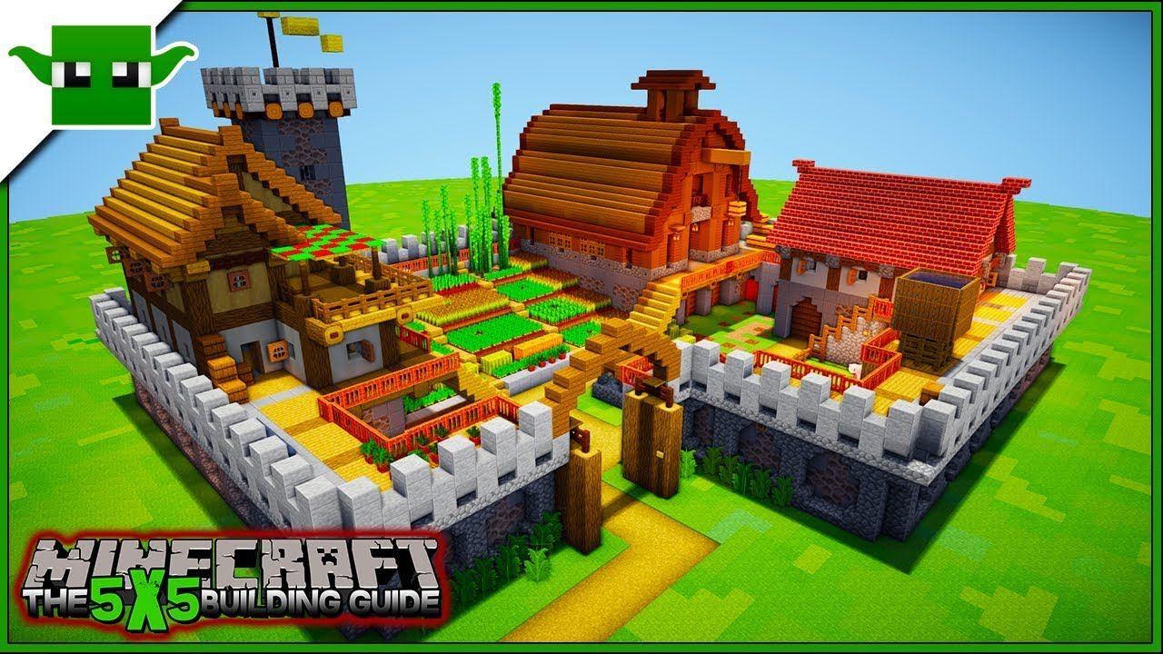 Minecraft Fortified Farm Tutorial 2 (EASY 5X5 Building