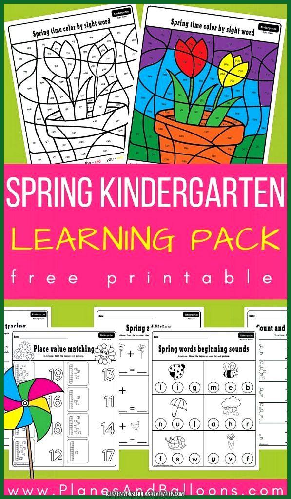 ausgezeichnet spring kindergarten worksheets packperfect