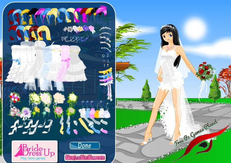 Anime Bride Dress Up Game Play Free Girls Games Online
