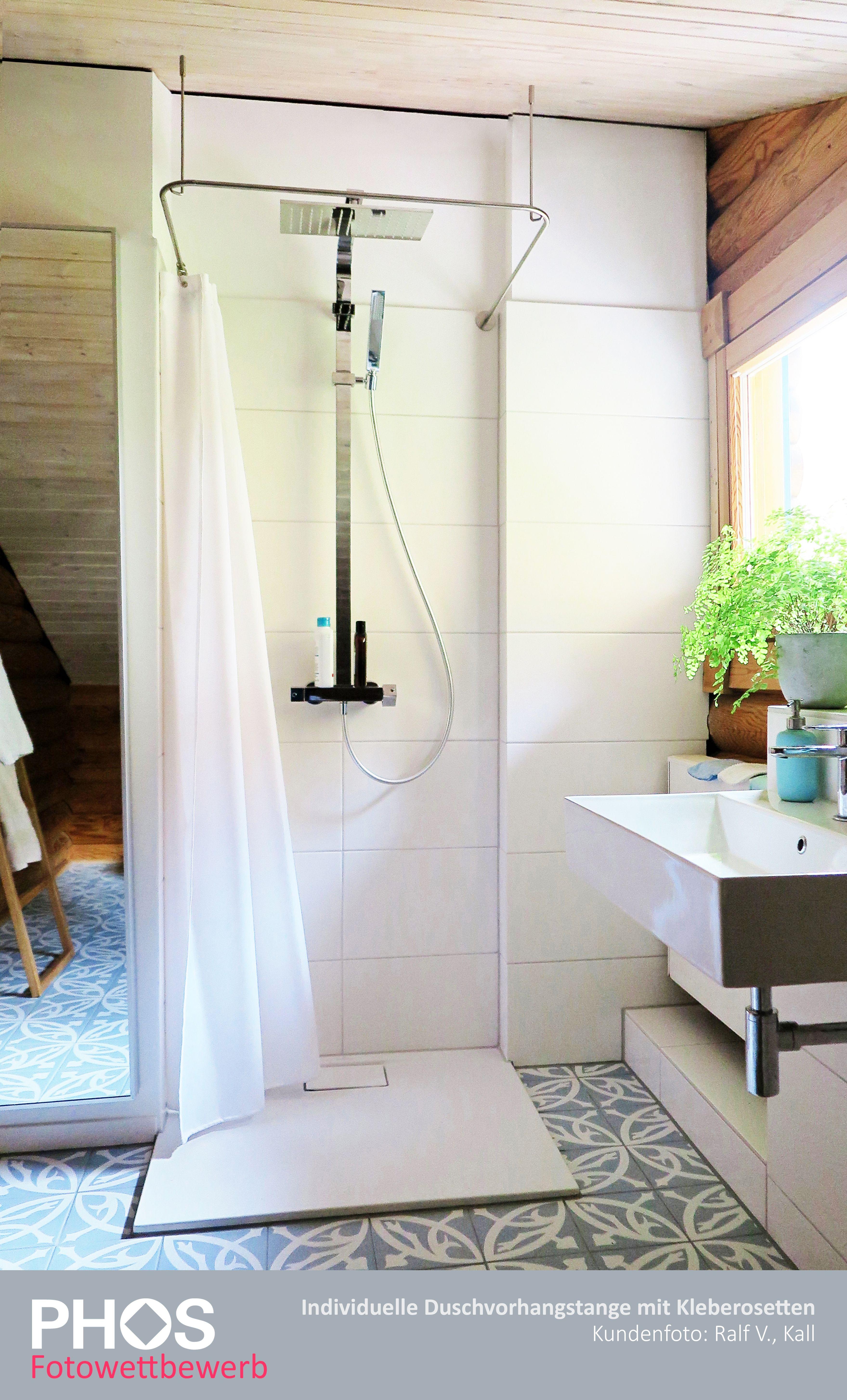 Kundenbild Individuelle Duschvorhangstange Von Phos Design In 2020 Duschvorhangstange Dusche Vorhange