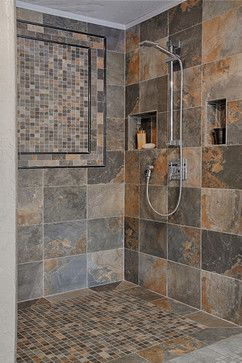 traditional slate tile bathroom design ideas, pictures