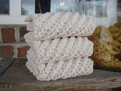 Diagonal crocheted cotton dishcloths   Crochet - Dishcloths ...