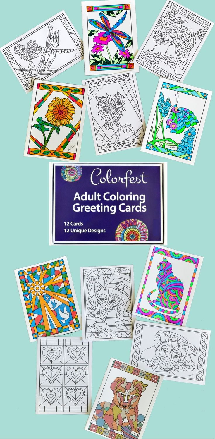 Coloring Greeting Cards Greeting Cards Handmade Greeting Cards Cards Handmade