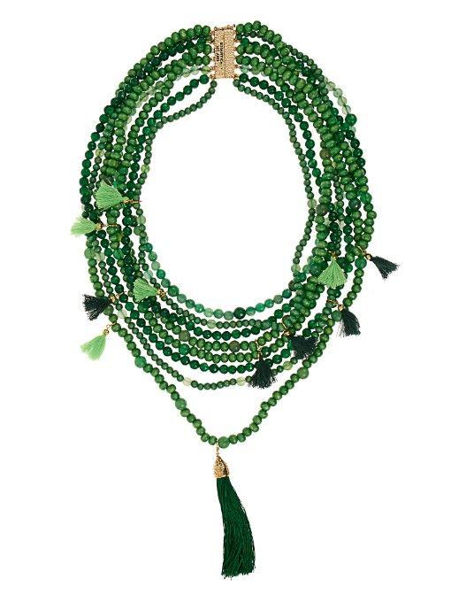 Rosantica By Michela Panero Etna multi-layered wood and quartz necklace
