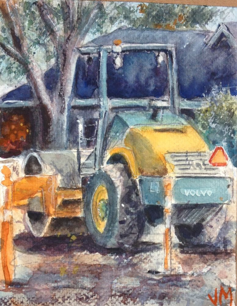 Heavy Duty Watercolor Painting Original Small Artwork 7 X 5 1 2