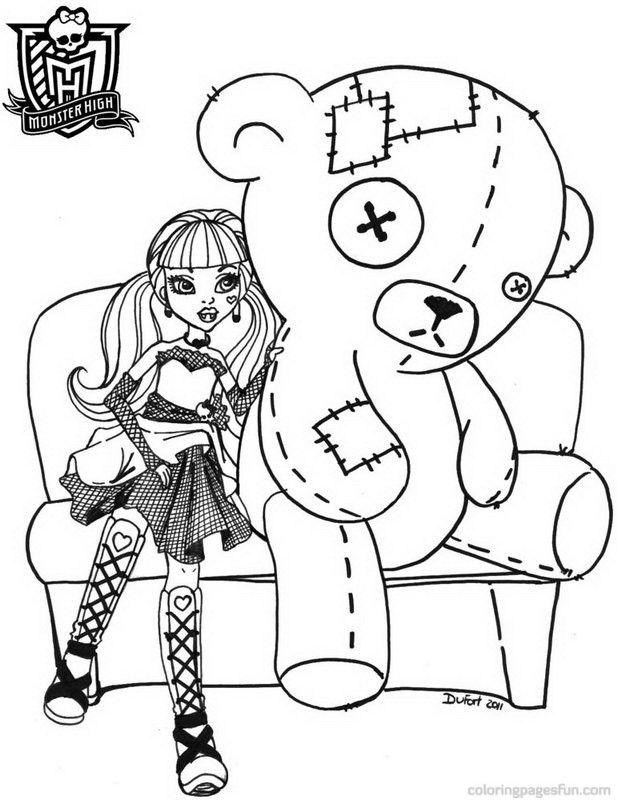 Monster High Coloring Pages To Print Monster High Coloring Pages