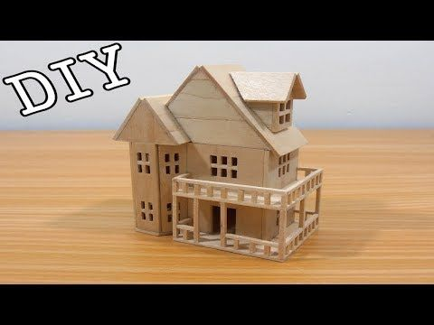 How to make Miniature House with skewers Bamboo sticks DIY YouTube