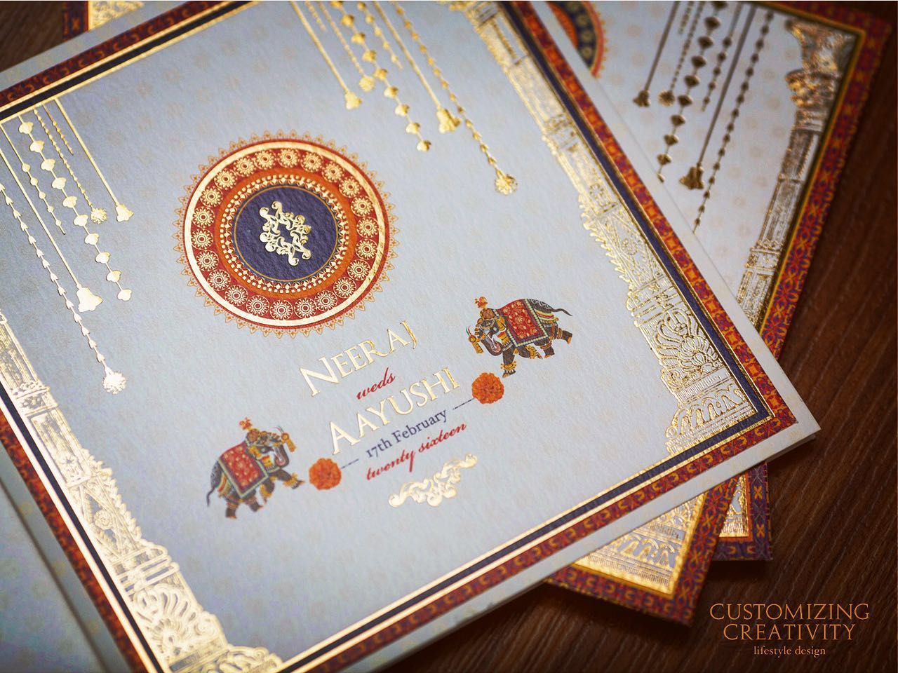 Laser Cutting Wedding Invitation Cards Indian