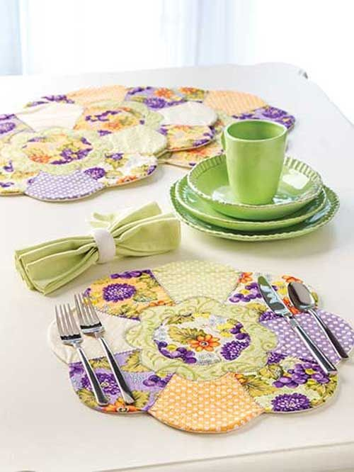 Sunflower Place Mats Sewing Pattern