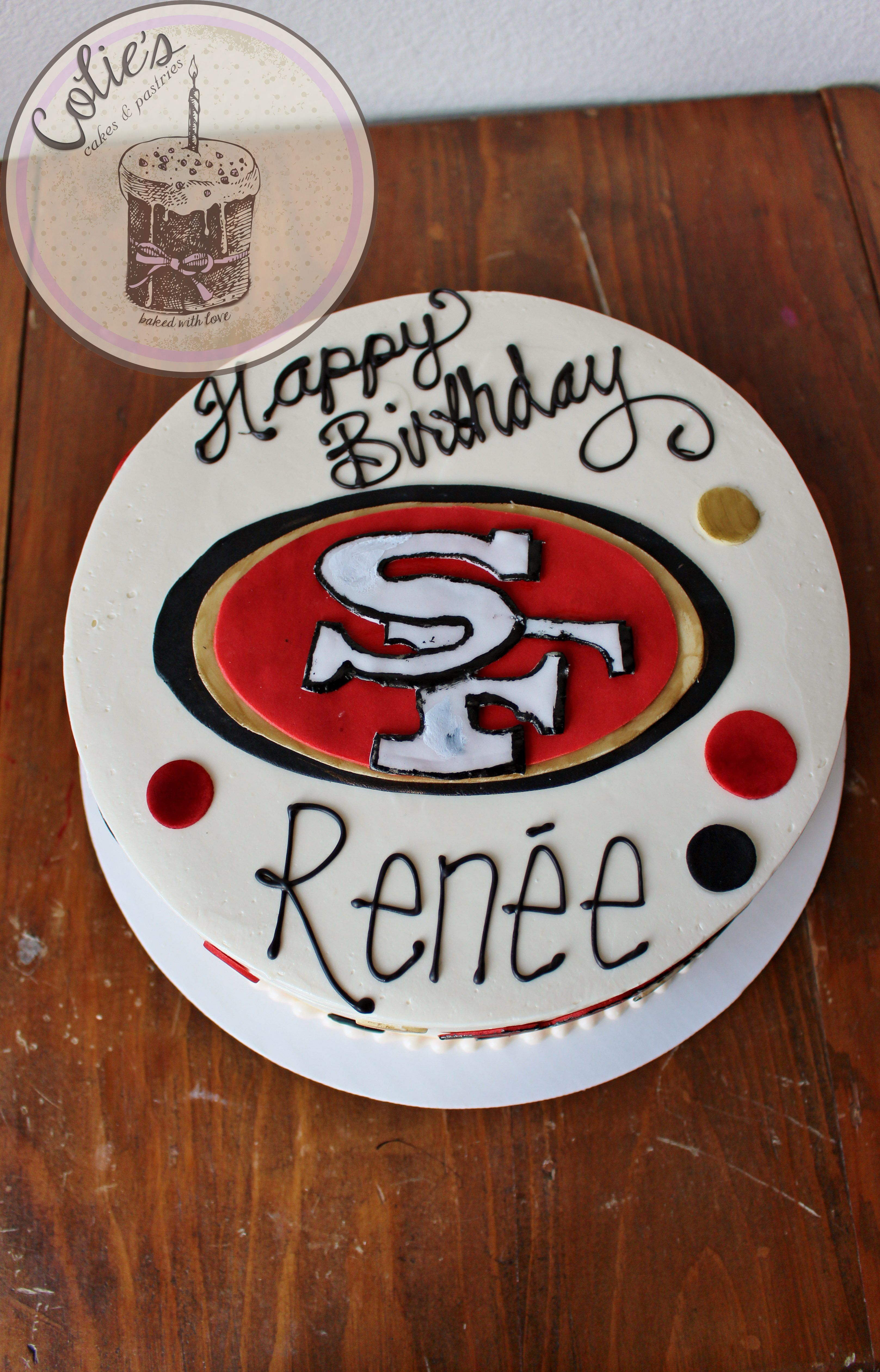 San Francisco 49ers Birthday Cake Coliespastries Cakes By Colies