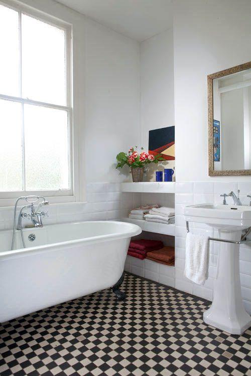 High Quality Vintage Modern Bathrooms: Checkerboard Floor! Amazing Design