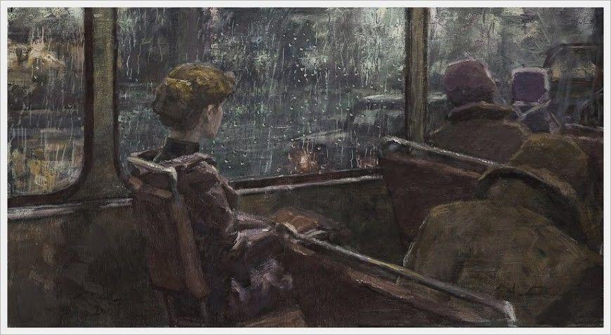 Night Bus, 1974 by Boris Pavlovich Nikolaev