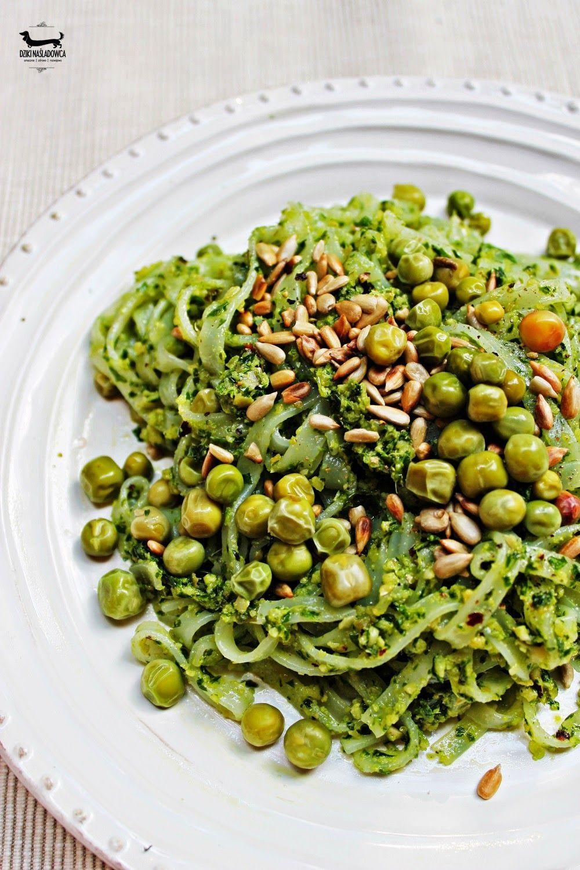 Smacznie Zdrowo Rozwojowo Tagliatelle Z Zielonym Pesto Bezglutenowe Szybkie I Pyszne Vegetarian Recipes Eat Happy Food