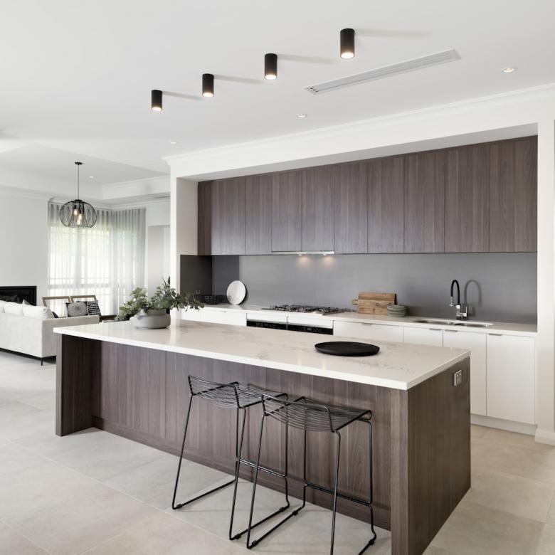 Amazing modern kitchen in polytec Cafe Oak Ravine  Oak Park
