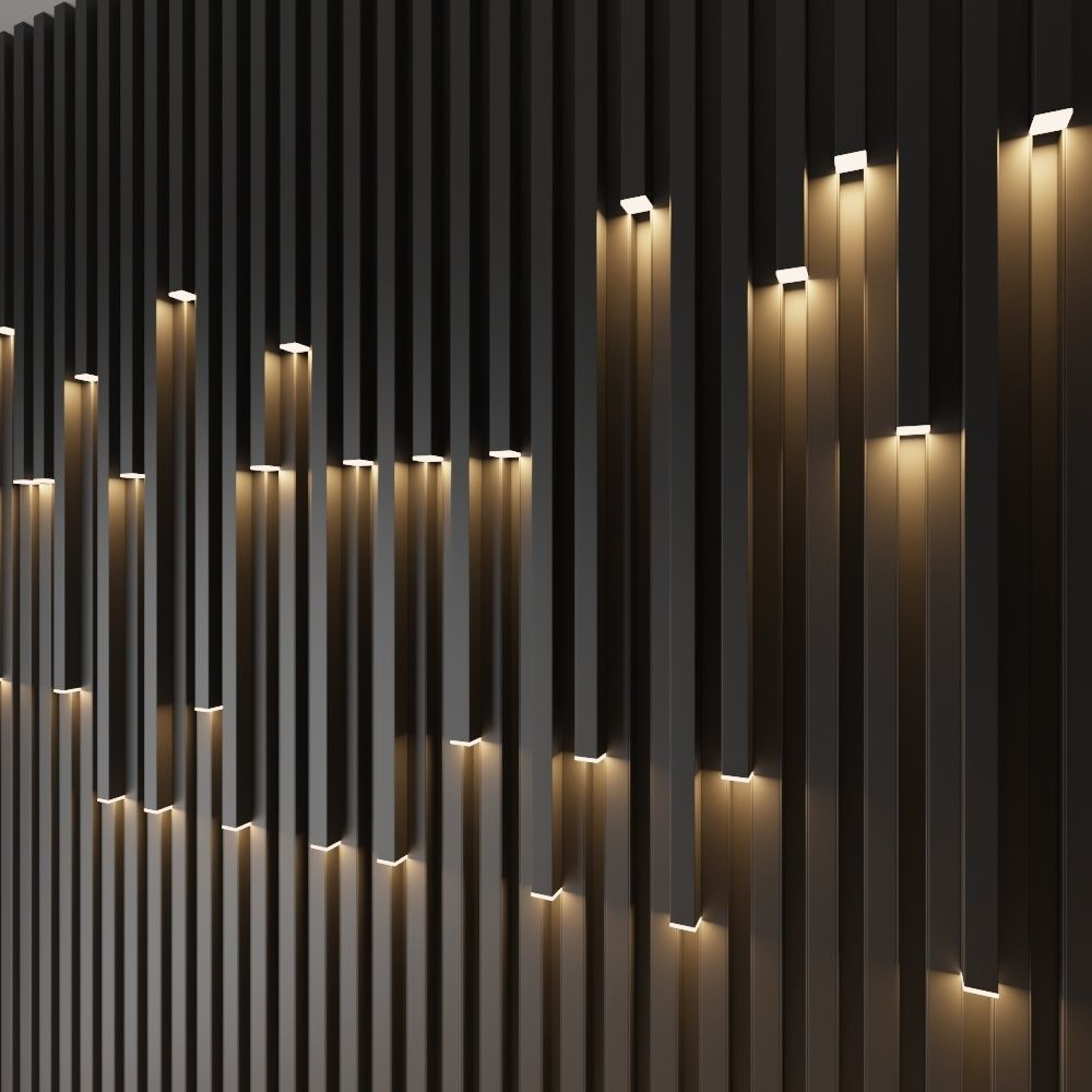 3d Model Wall Decorative Light Cgtrader Interior Wall Design Wall Panel Design Feature Wall Design