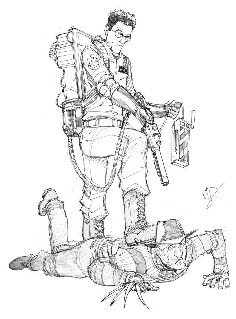 Egon Spengler Vs Freddy Krueger Ghostbusters