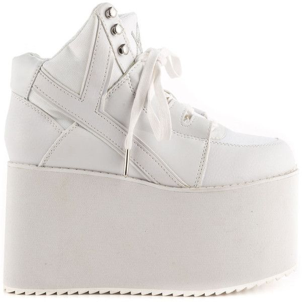 White platform sneakers, Shoes, Sneakers