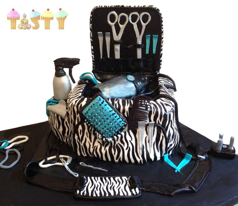 Hair Dressing Supplies Cake By Tastycakes Cakesdecor Decorating Website
