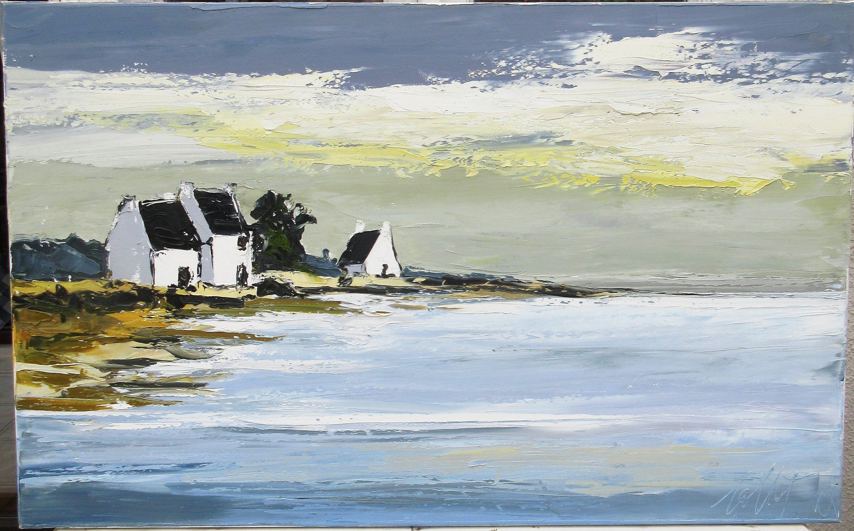 Echos Bretons Peinture Originale Marine Bretagne A L Huile Au