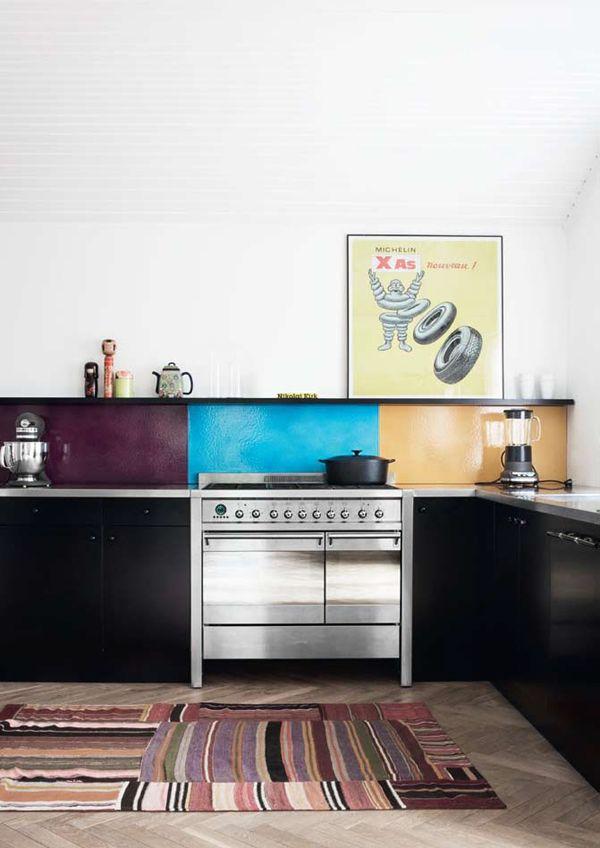 Tricolor Backsplash | The Design Vote - Kitchen | Pinterest | Küche ...