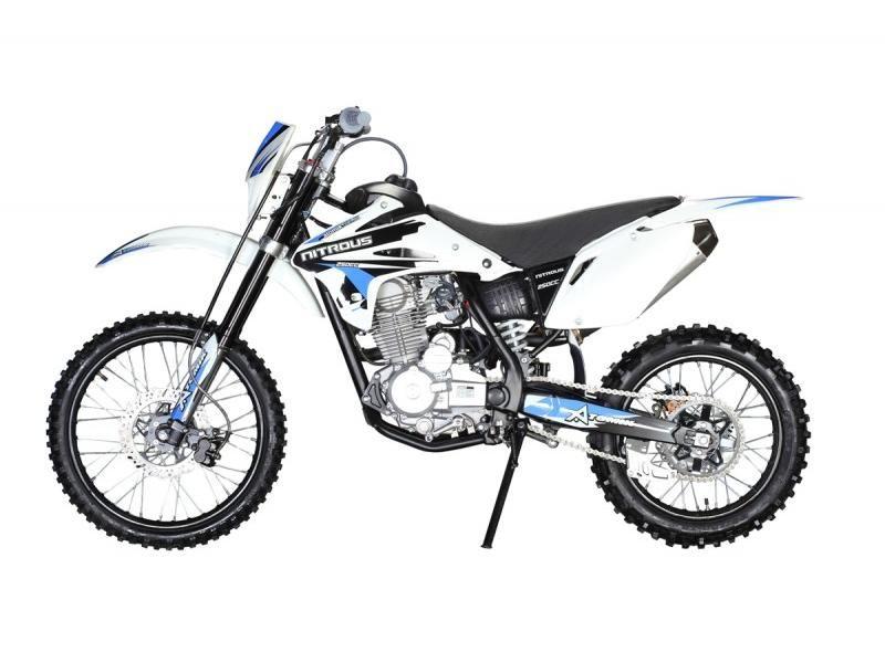 Atomik 250cc Blue Nitrous Dirt Bike Dirt Bike Bike Nitrous