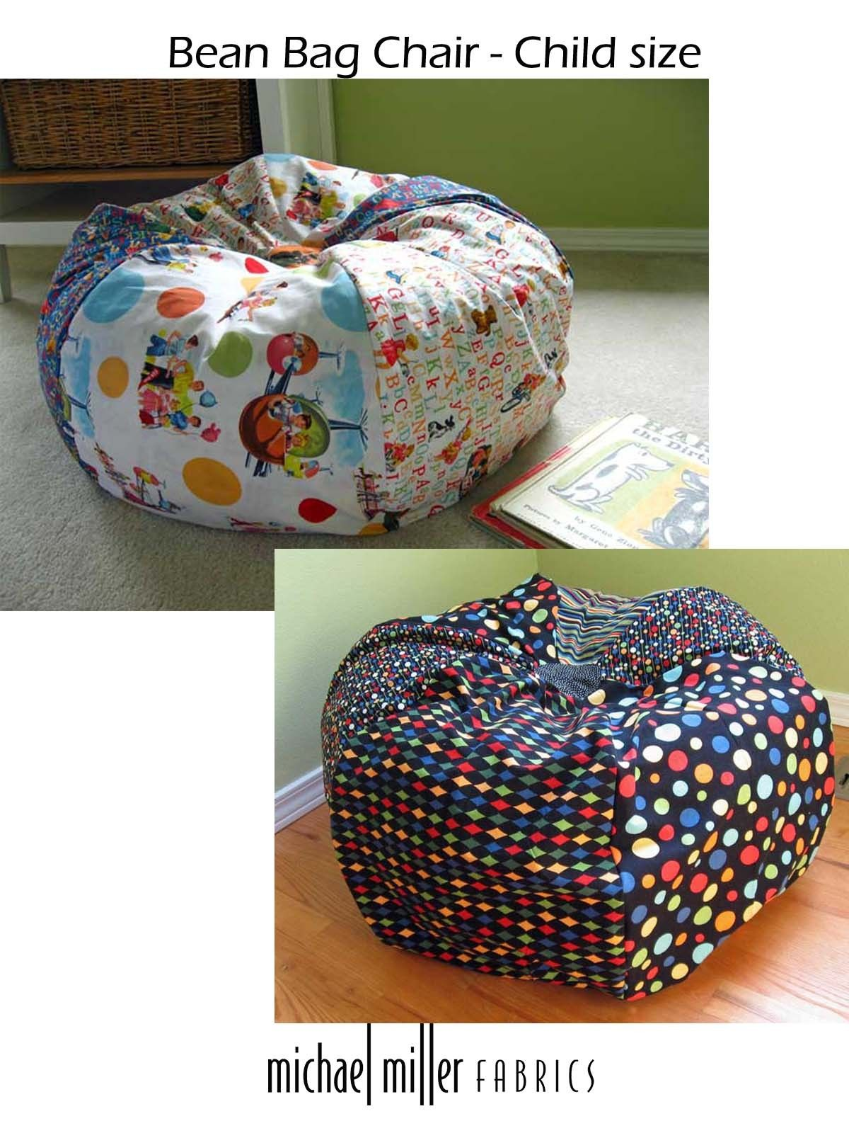 Bean Bag Chair  Child size tutorial  Free patterns