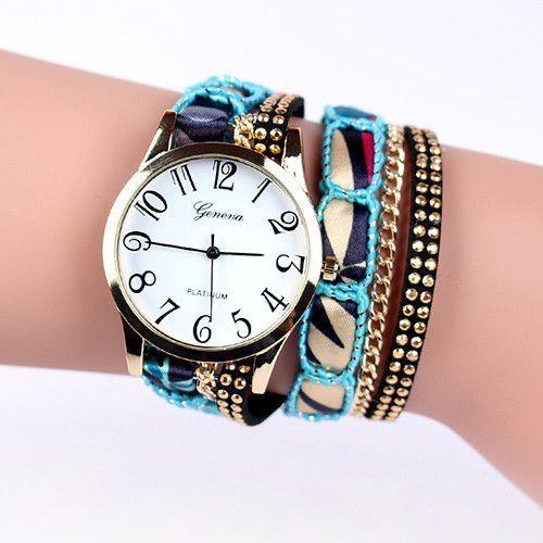 New watches women luxury brand Handmade Braided Elephant Friendship Bracelet GENEVA Watch Ladies Quartz Wristwatches