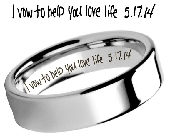 Common Engravings on Tungsten Wedding Bands Tungsten Rings