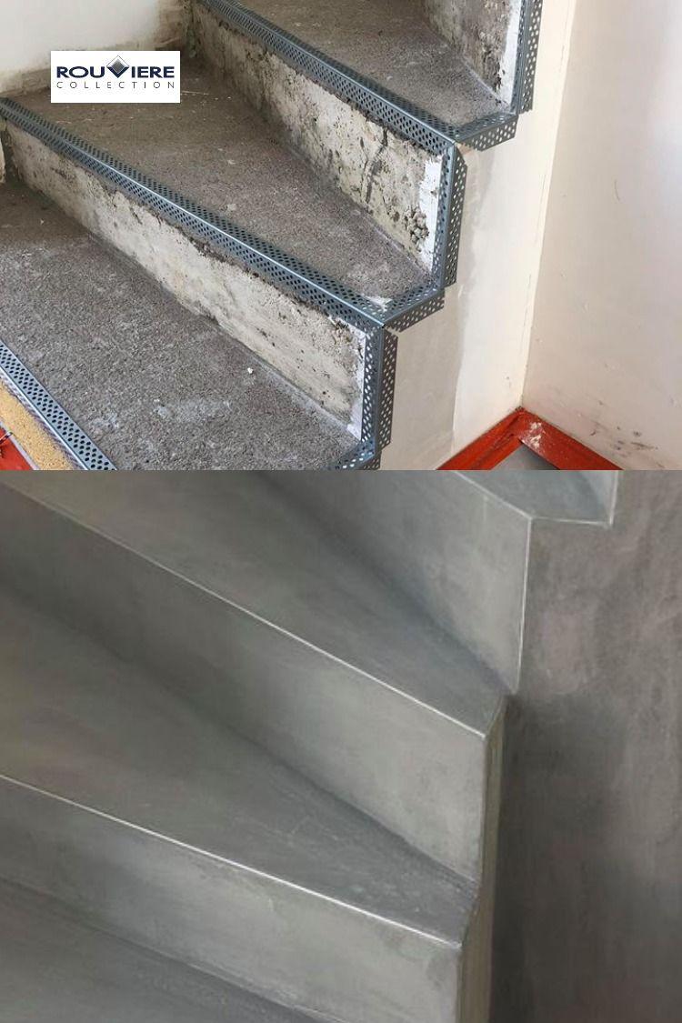 Modernisez Vos Escaliers Avec Un Revetement Enduit Beton Cire En 2020 Beton Cire Escalier Beton Cire Beton