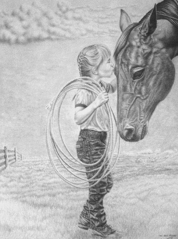 My best friend by glen powell · animal pencil drawingshorse