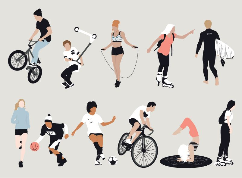 Vector People Doing Sports People Illustration Sport Illustration Architecture Drawing