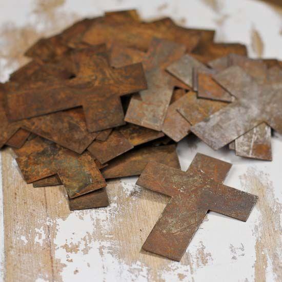 Bulk Primitive Rusty Tin Crosses Pop Can Crafts Crafts Rustic Crafts