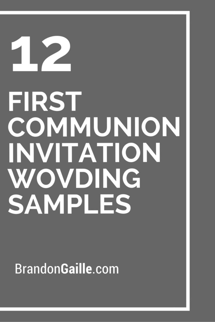 12 First Communion Invitation Wording Samples Messages And