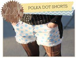 diy polka dot shorts