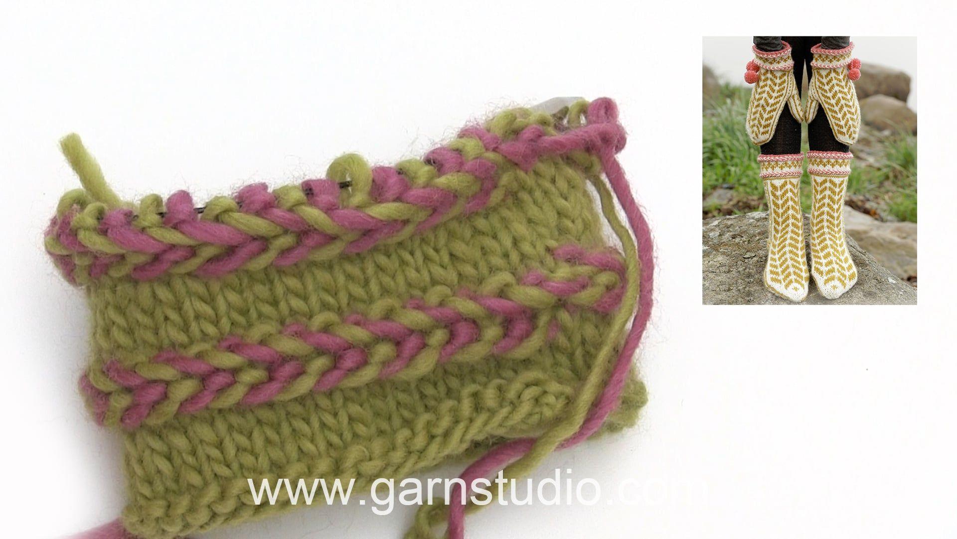 How to knit a Latvian braid   Lucru de mana   Pinterest