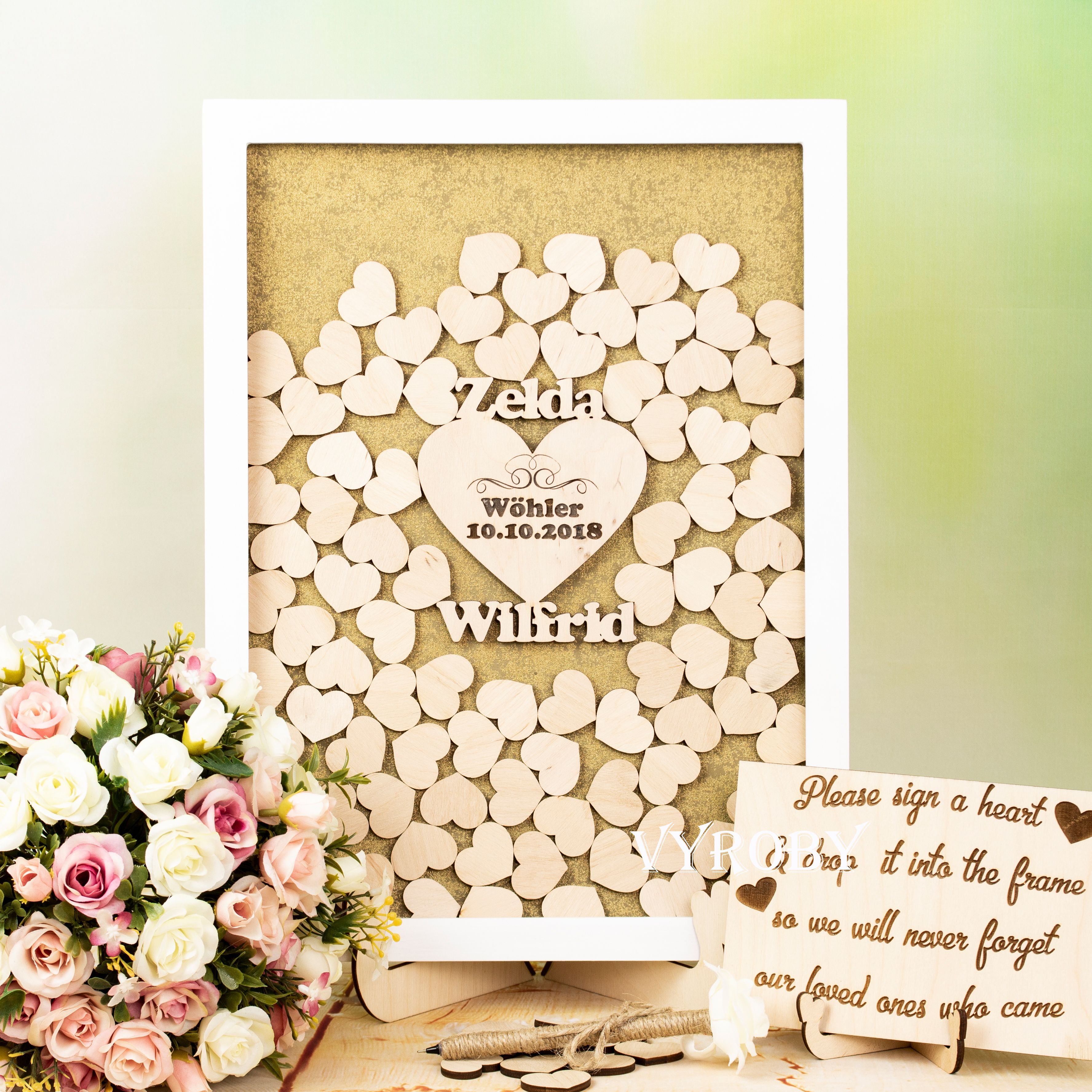 Wedding Sign In Book Alternative Wood Wedding Guest Book Sign Yellow And Gray Wedding Wedding Guest Book Wood Sign Wedding Guest Book Sign Wedding Drop Box Guest Book