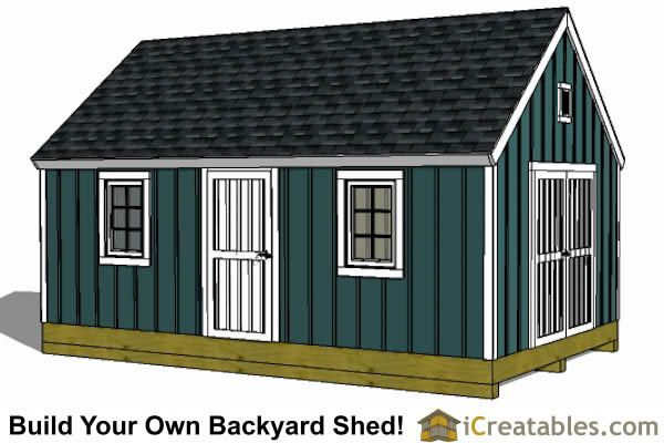 12x24 colonial style shed plans – 12X24 Garage Plans