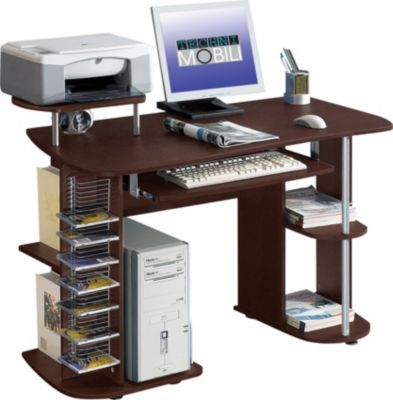 Technimobili Rta 8104 Computer Desk Chocolate At Staples Home Office Computer Desk Modern Computer Desk Computer Workstation Desk