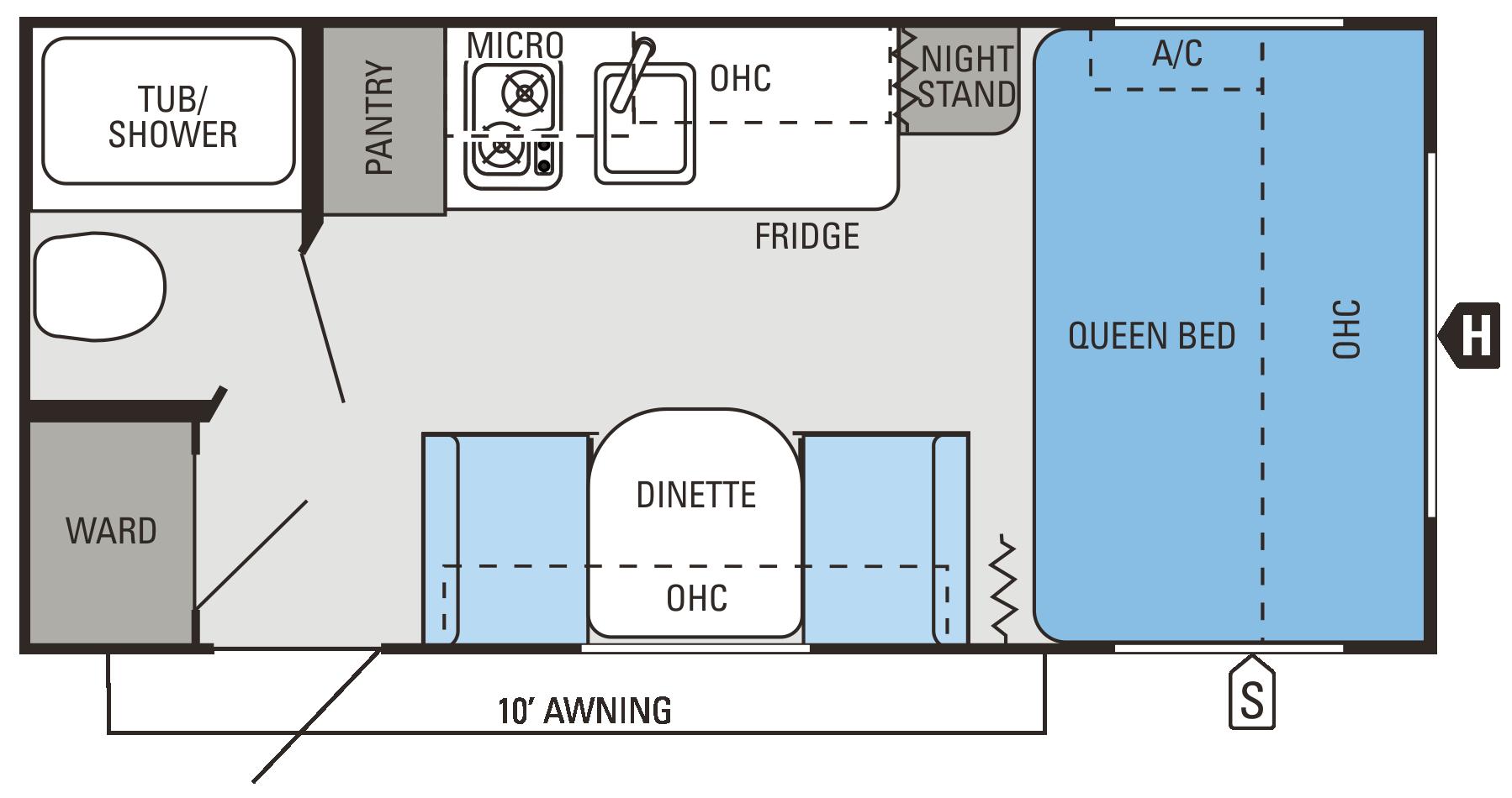 2014 Jay Flight Swift SLX 185RB Floorplan Jayco, Floor