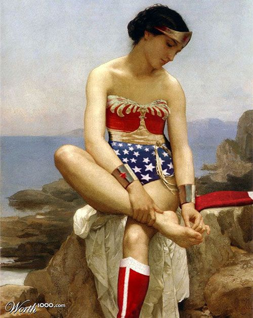 Wonder Woman as classic beauty, as part of the Worth 100 Photo Effects contest.