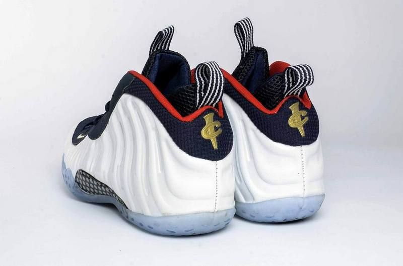 Nike Foamposite One Olympic (GS) Sneakers (Obsidian/University Red-Metallic Gold-White)