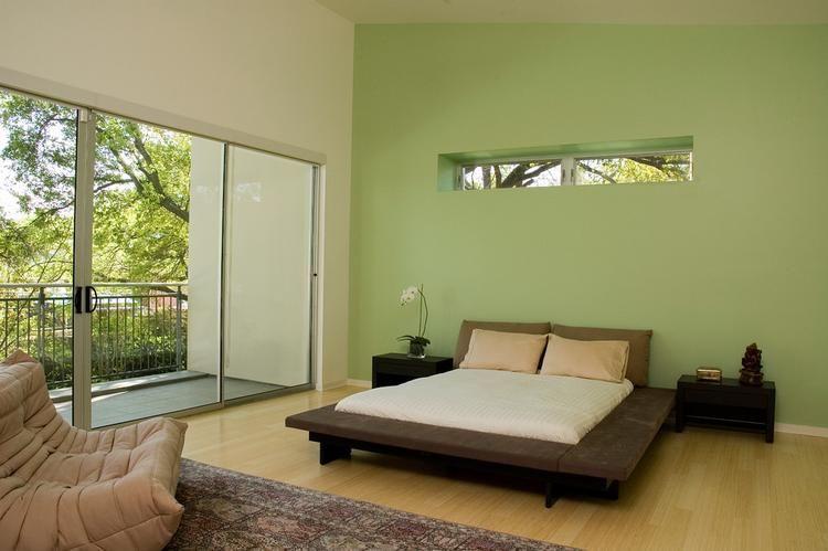 Slaapkamer Kleur Groen : Mooie groen kleur in slaapkamer bedroom in
