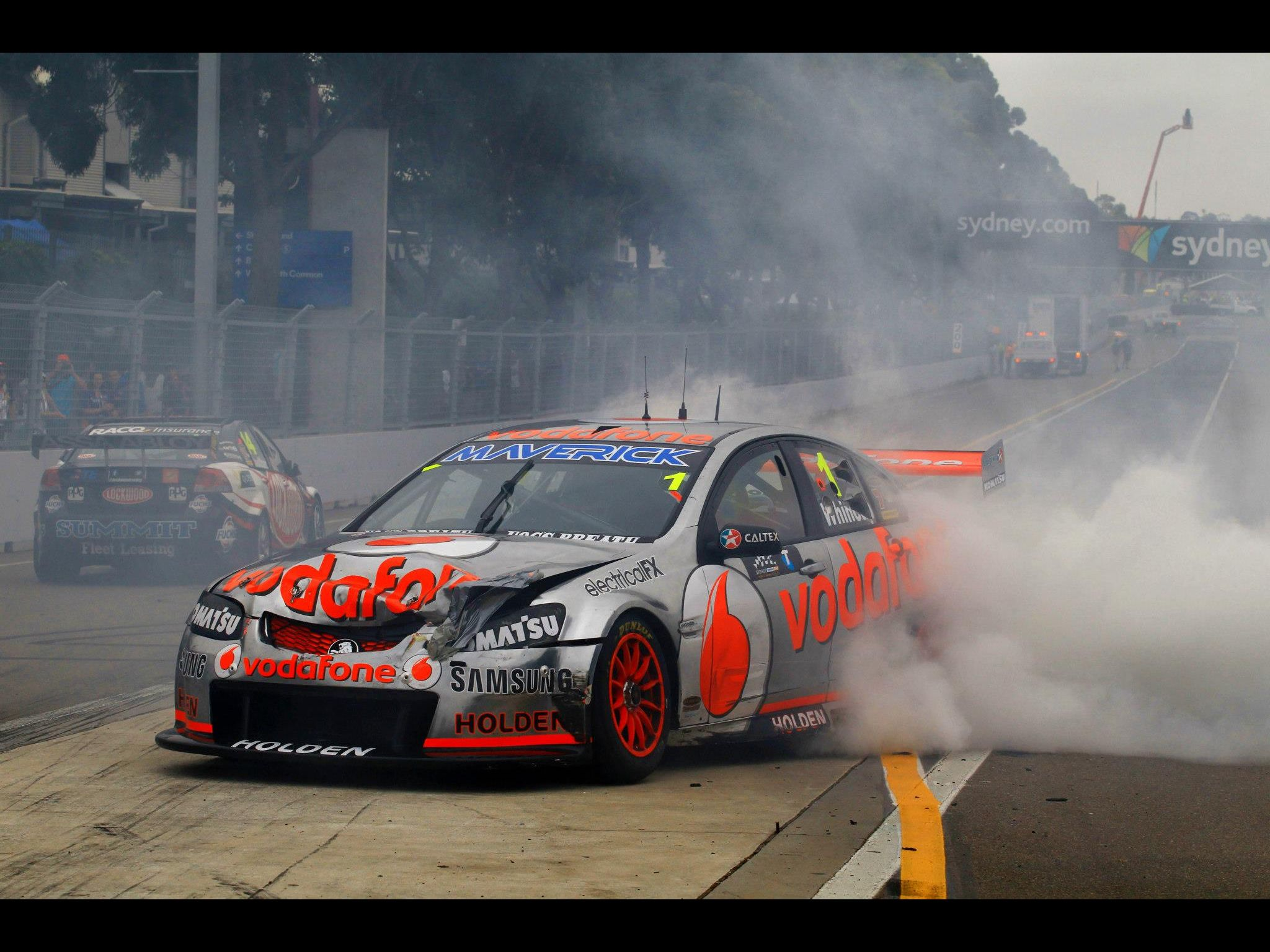 2012 V8 Supercar Champion Jamie Whincup In His Holden Commodore