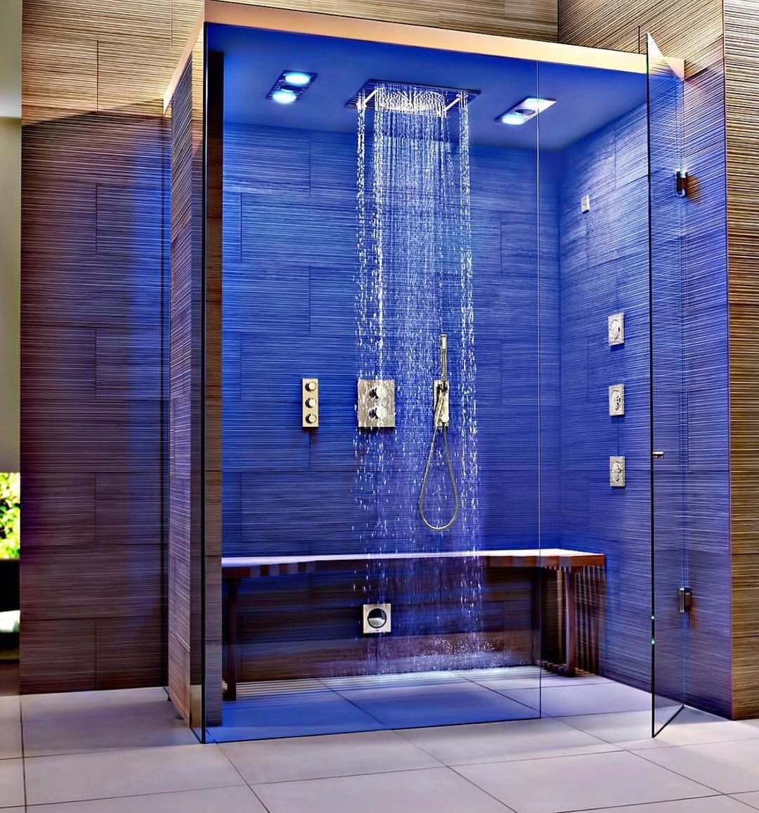 Stunning Shower By Cindystumpobuilds Spa Inspired Bathroom Steam Room Shower Home Spa Room